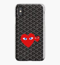 Goyard Love comme des garcons red Play iPhone Case/Skin