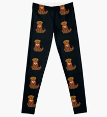 Newfoundland dog and Butterfly Leggings