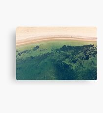 Beach Side Aerial - Alternative Canvas Print
