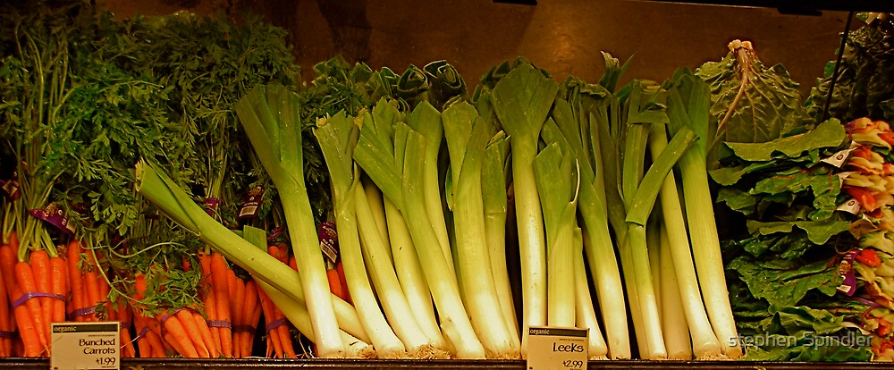 Leeks and Carrots by stephen Spindler