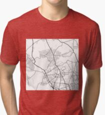 Reinickendorf - Berlin - Germany - Minimalist Design Map Tri-blend T-Shirt