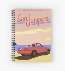San Junipero Travel Poster Spiral Notebook