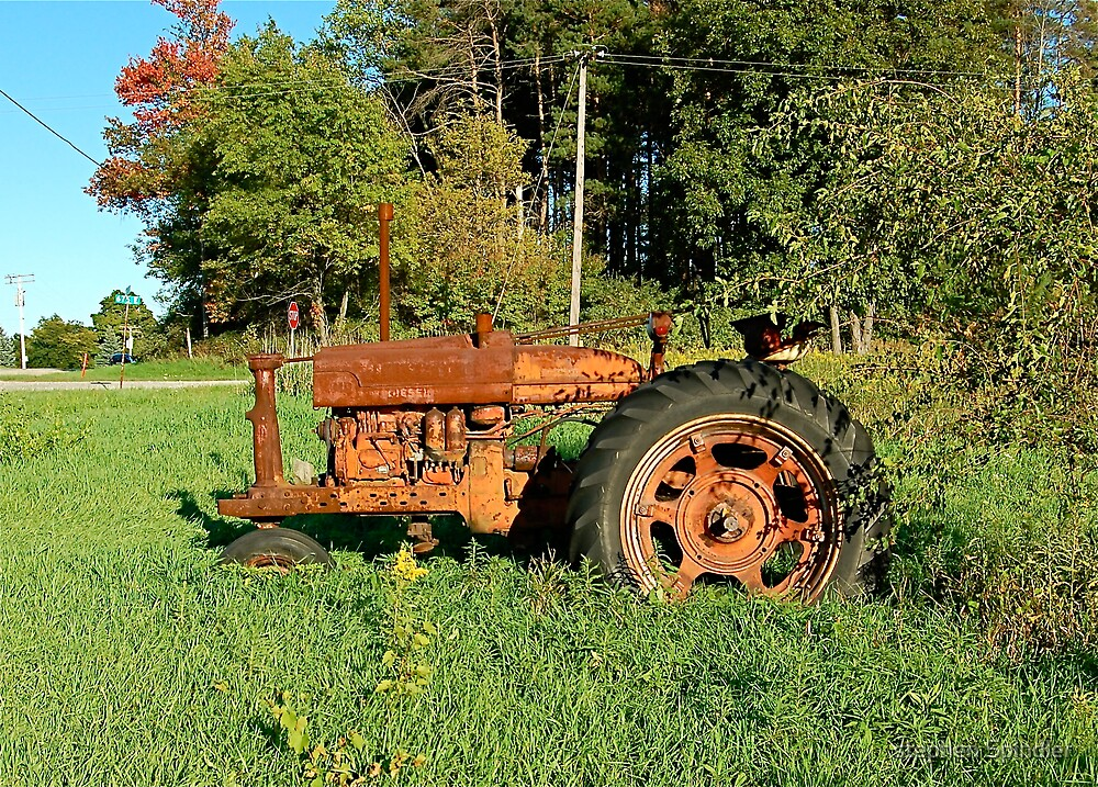 Old Tractor by stephen Spindler