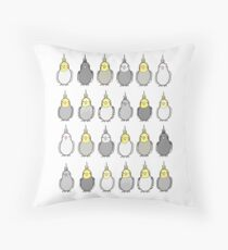 Flock of Cockatiels Throw Pillow