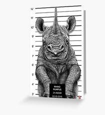 Rhino Rumpus Greeting Card