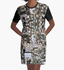 Steampunk Dream Graphic T-Shirt Dress