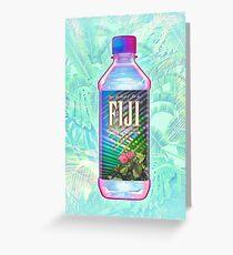 Fiji Water Vaporwave Greeting Card