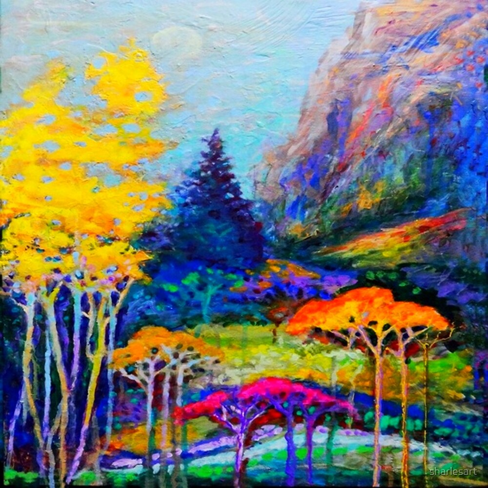 PASTEL LANDSCAPE ART by sharlesart