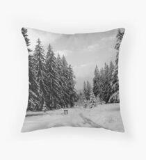 winter landcape Throw Pillow