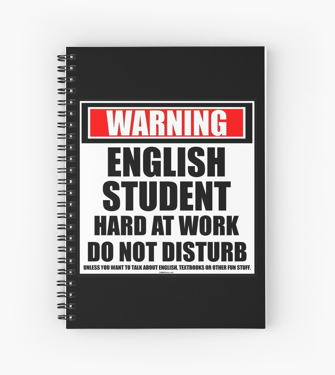 Warning English Student Hard At Work Do Not Disturb by cmmei