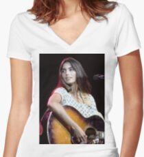 Emmylou Harris Women's Fitted V-Neck T-Shirt