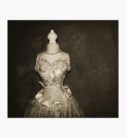 her wedding gown Photographic Print