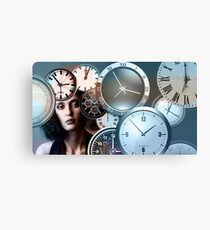 Time Clock Canvas Print