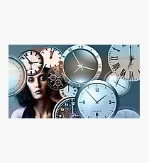 Time Clock Photographic Print