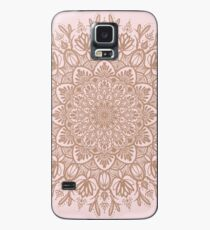 Rose Gold Beige Mandala Case/Skin for Samsung Galaxy
