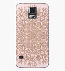 Rose Gold Beige Mandala Hülle & Klebefolie für Samsung Galaxy