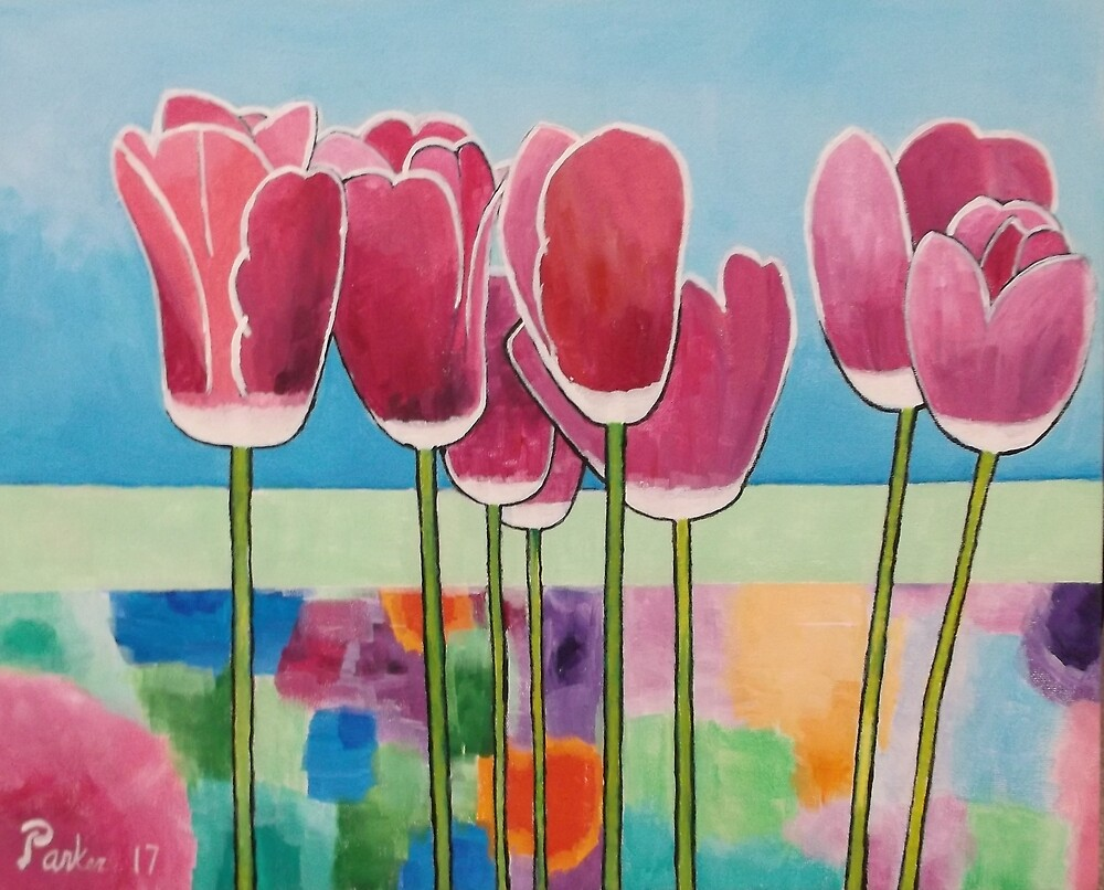 Pink Tulips by Don Parker