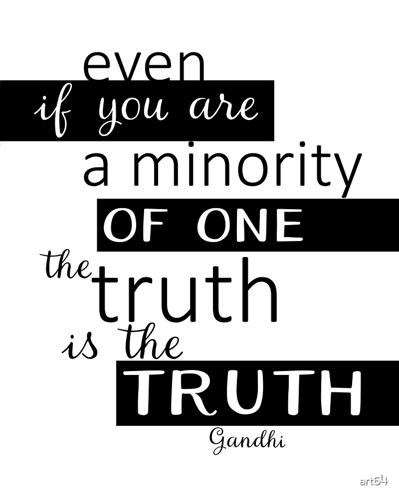 The Truth Gandhi Quote Typography Design by art64