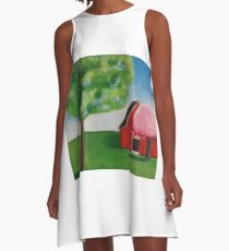 Red Barn A-Line Dress