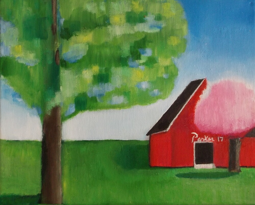 Red Barn by Don Parker