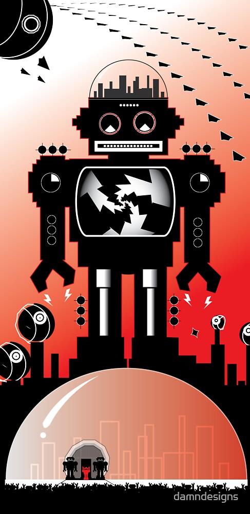 robot mega city by damndesigns