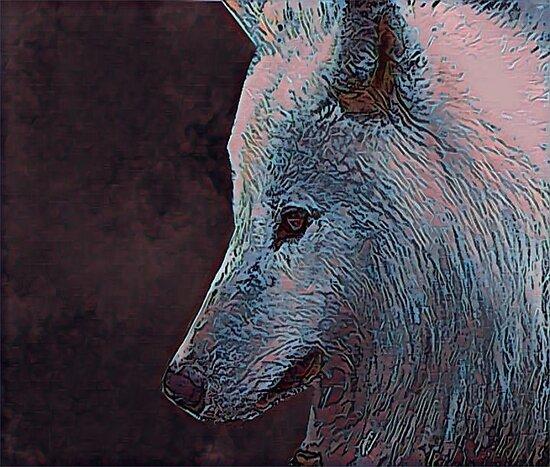White Wolf by InfiniteBlue88