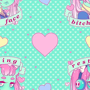 Resting Bitch Face Pattern by ghoulkiss