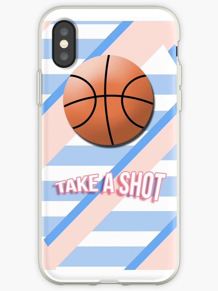 "Basketball ""TAKE A SHOT"" Pastel Phone Cover by haknyus"
