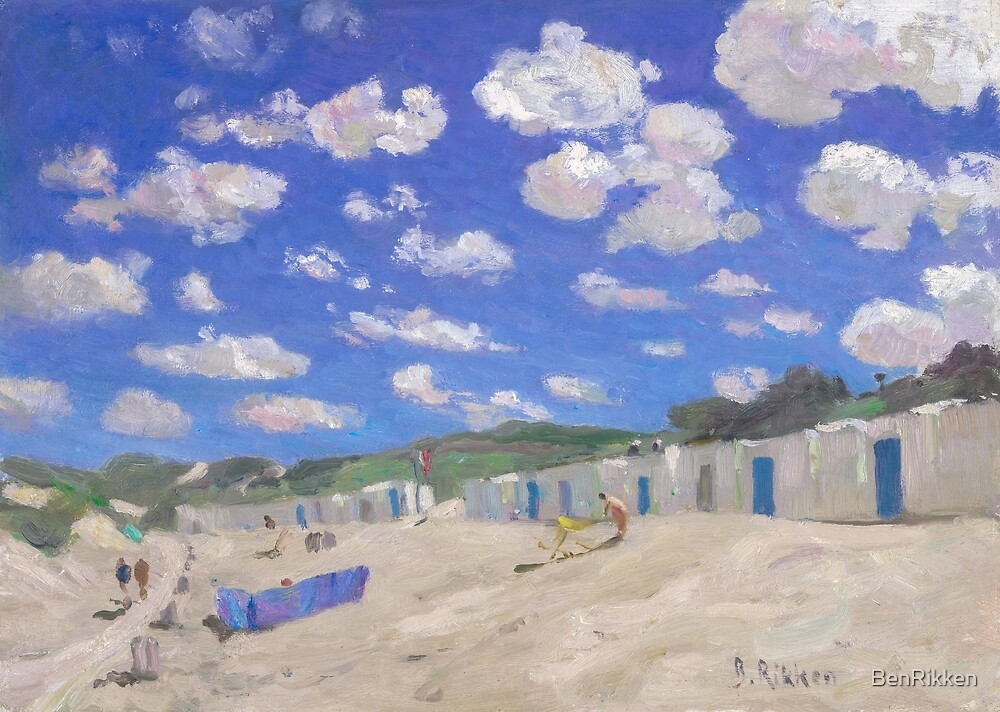 Clouds above the sunny beach by BenRikken