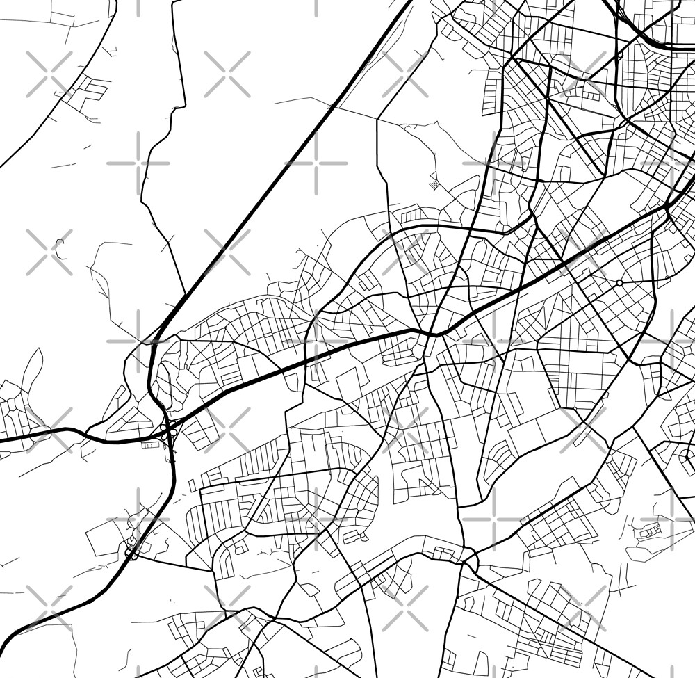Steglitz-Zehlendorf - Berlin - Germany - Minimalist Design Map by superfunky