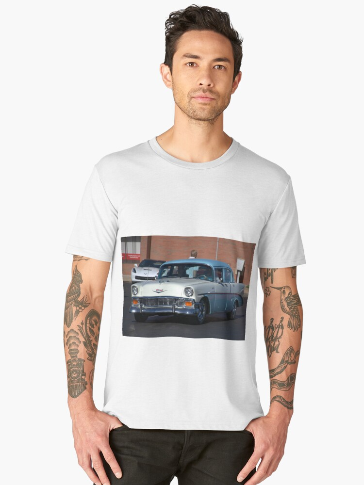 1956 Chevrolet 4 Door Men's Premium T-Shirt Front
