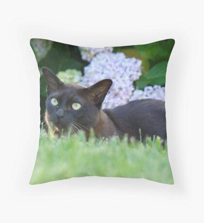 on the grass Throw Pillow