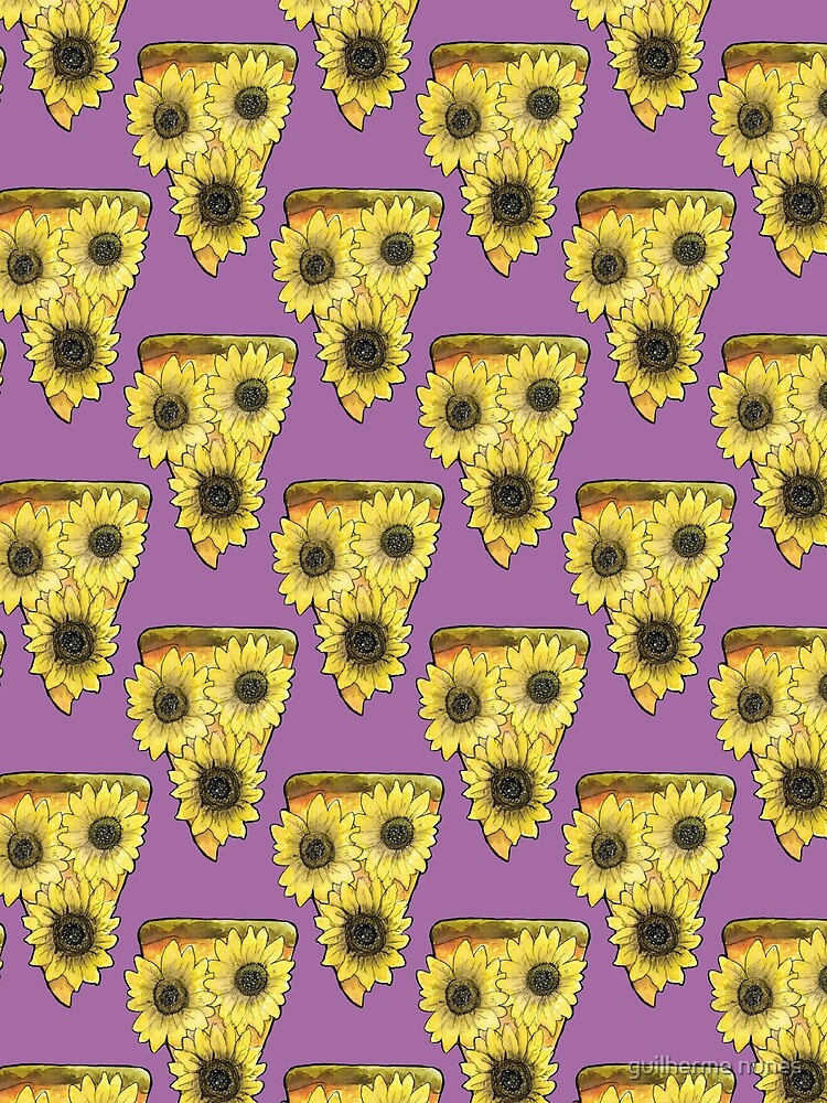 pizza sunflower pattern by mantrapop