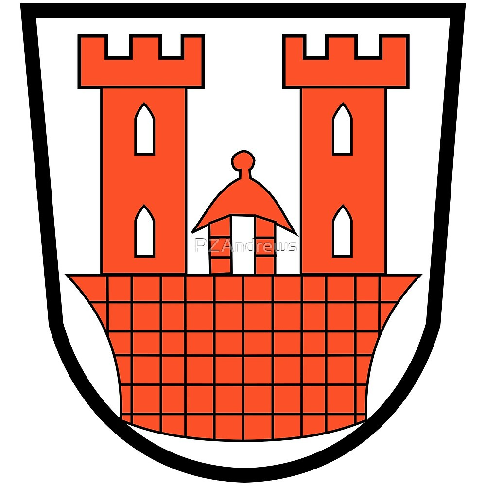 Rothenburg ob der Tauber coat of arms, Germany by PZAndrews