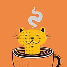 Cat in a teacup by jumpy