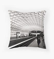 Waiting for the Metro, Washington DC Throw Pillow