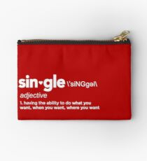 Single Definition for Singles Awareness Day Studio Pouch