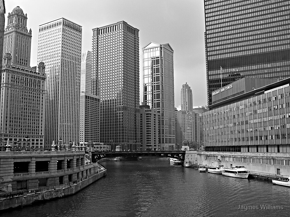 Chicago River Skyline by Jaymes Williams