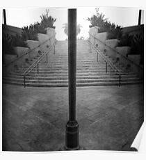 Arch Steps and Light Pole from Parking Structure Poster