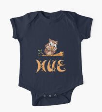 Hue Owl Short Sleeve Baby One-Piece