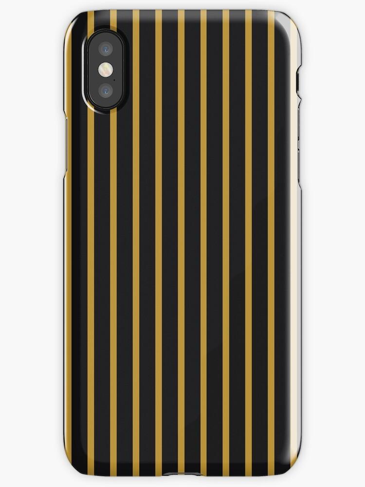 2-Tone Black/Yellow Narrow Stripes by sidebar