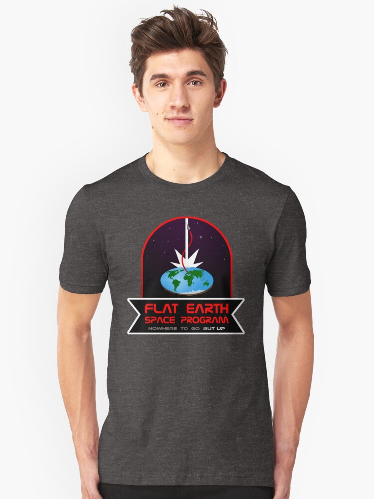 Flat Earth Space Program Unisex T-Shirt Front
