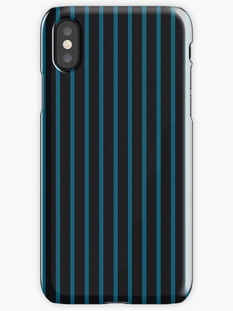 2-Tone Teal/Black Narrow Stripes by sidebar