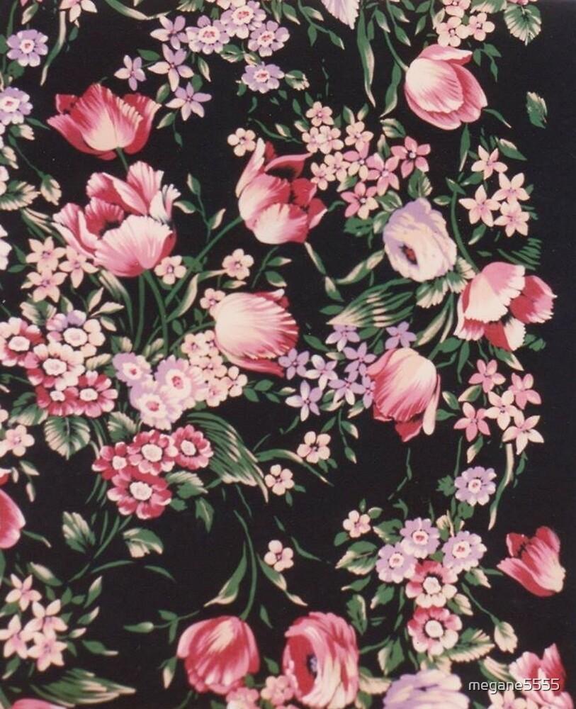 Printed flowers by megane5555