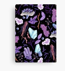 Crystals and stones Canvas Print