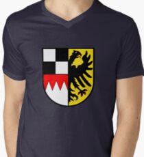 Middle Franconia coat of arms, Germany Men's V-Neck T-Shirt