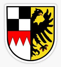 Middle Franconia coat of arms, Germany Sticker