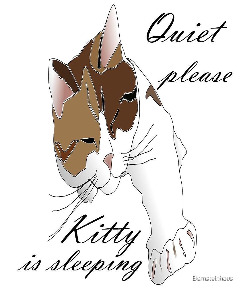 quiet please Kitty is sleeping by Bernsteinhaus