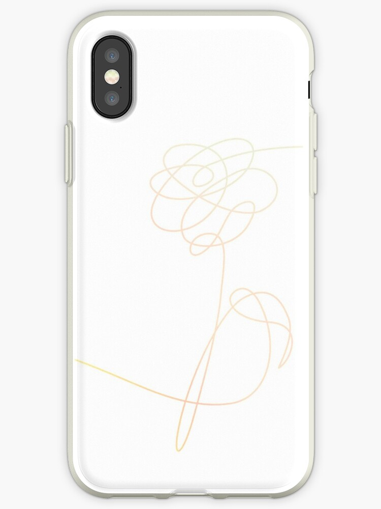 BTS LOVE YOURSELF flower phone case by peachybts