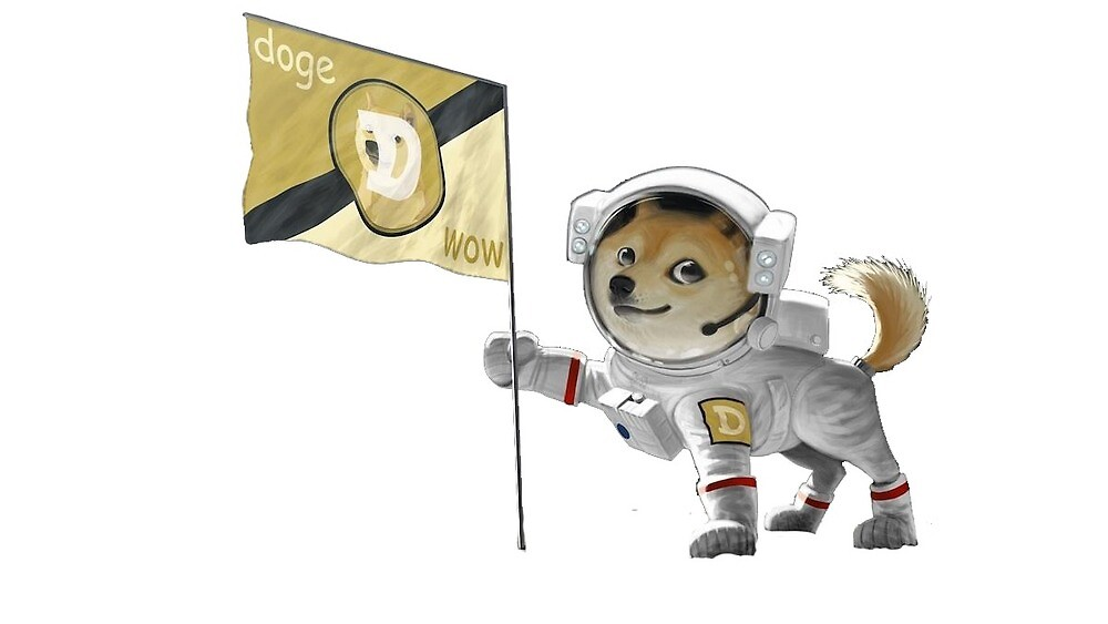 DogeCoin Sticker - to the moon! by SheCallsMeBJ